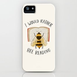 Happy Bee Reading a Book iPhone Case