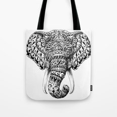 Ornate Elephant Head Tote Bag