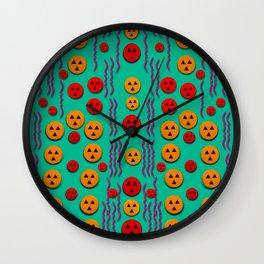 Pumkins dancing in the season pop art Wall Clock