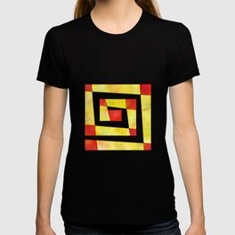 Semirenium - simple coloured cube world T-shirt