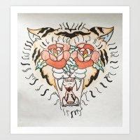 The Javan Tiger  Art Print