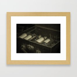 Flasks Framed Art Print