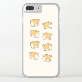 Chubby Roung Shibes Clear iPhone Case