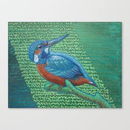 Kingfisher & Code (I KNOW It Means SOMEthing...) Canvas Print