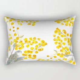 Wattle Flowers Rectangular Pillow