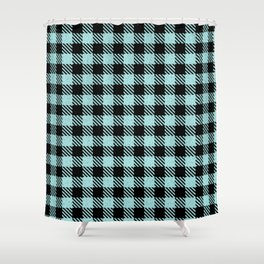Fresh Air  Bison Plaid Shower Curtain