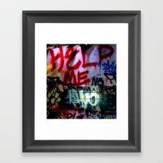 help me graffitti Framed Art Print
