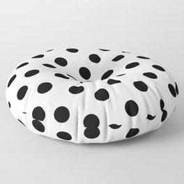 White & Black Polka Dots Floor Pillow