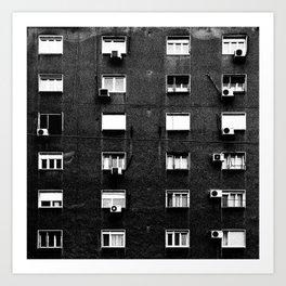 Belgrade / Facade BW Art Print