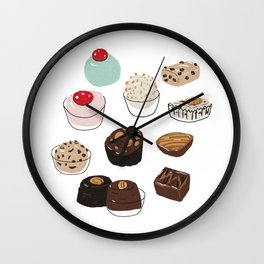 Bonbons and Fudge Wall Clock