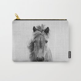 Wild Horse - Black & White Carry-All Pouch