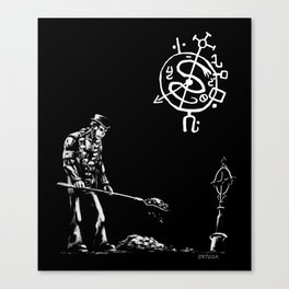 Voodoo Gravedigger Canvas Print