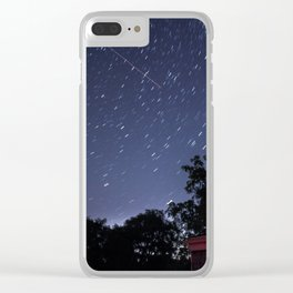 Short Star Trail Clear iPhone Case