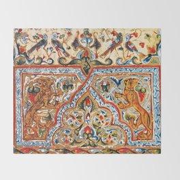 old motives / colorful / Armenian  Throw Blanket