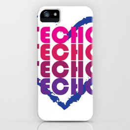 Techno is in my heart iPhone Case