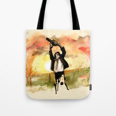 Chainsaw Sunrise Tote Bag