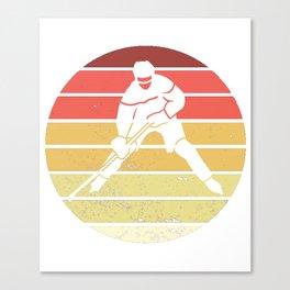 Hockey Players Hockey Field Ice Goalie Vintage Canvas Print