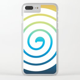 White Spiral Clear iPhone Case