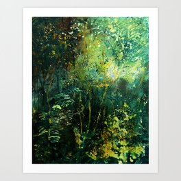 green wood Art Print