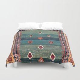 Sivas Antique Turkish Niche Kilim Print Duvet Cover