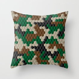 CUBOUFLAGE Throw Pillow