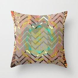NL 3 Rustic Southwest Chevron Throw Pillow
