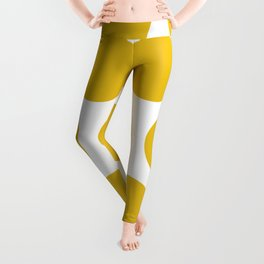Mustard Yellow Large Polka Dots Leggings