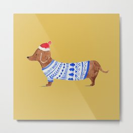 Dashing Dachshund Metal Print