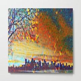 Sunrise Cityscape Metal Print