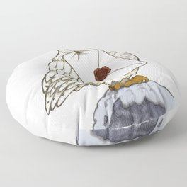 Hedwig Owl with Message Floor Pillow
