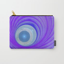 violet and blue and round Carry-All Pouch