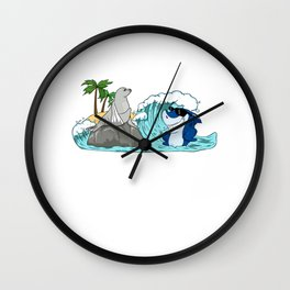 Do Not Consume If Seal Is Broken Seal & Shark Wall Clock