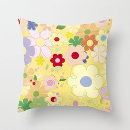 Graphic flowers: Dancing king Throw Pillow