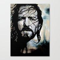 eddie vedder Canvas Prints featuring Eddie  by lyneth Morgan