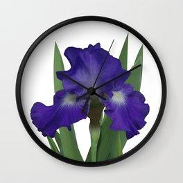 Stellar Lights, Deep blue-violet Iris Wall Clock