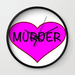 MURDER Wall Clock