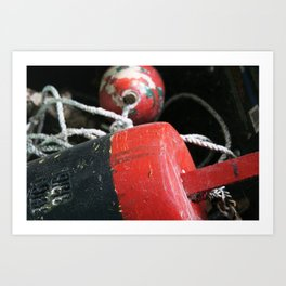 Nautical Crabbing Buoy Art Print