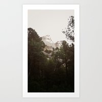 rushmore Art Prints featuring Mt. Rushmore by Jacob Neal