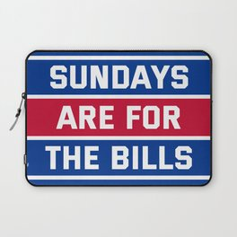 Sundays Are for the bills Laptop Sleeve