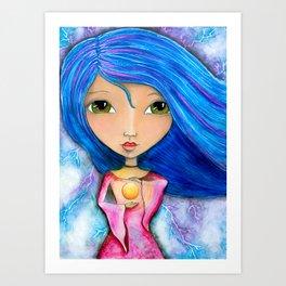 Energy Dreams Girl Art Print