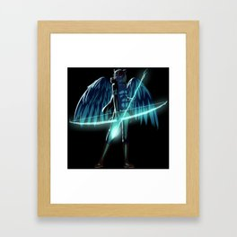 Luc Ready for Battle (Black/Dark Background) Framed Art Print