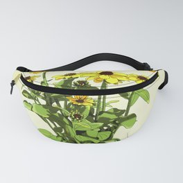 Black Eyed Susan and Her Pollinators Detail 1 Fanny Pack