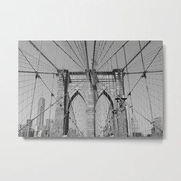 Brooklyn Bridge - B&W  Metal Print