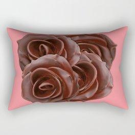 Chocolate, Roses Rectangular Pillow