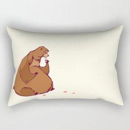 a friendly bear Rectangular Pillow