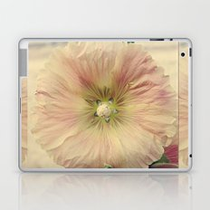 Pink HollyHock Flower Laptop & iPad Skin