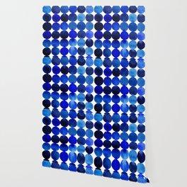 Blue Circles in Watercolor Wallpaper