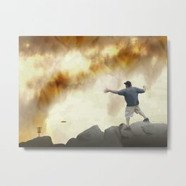 Volcano Disc Golf Metal Print