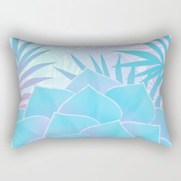 Pastel Rainbow Tropical Flower Paradise Design Rectangular Pillow