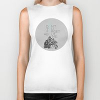 breakfast club Biker Tanks featuring BREAKFAST CLUB... by studiomarshallarts